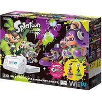 【欠品あり】【送料無料】【中古】Wii U スプラトゥーン セット(amiiboアオリ・ホタル付き)(箱説付き)
