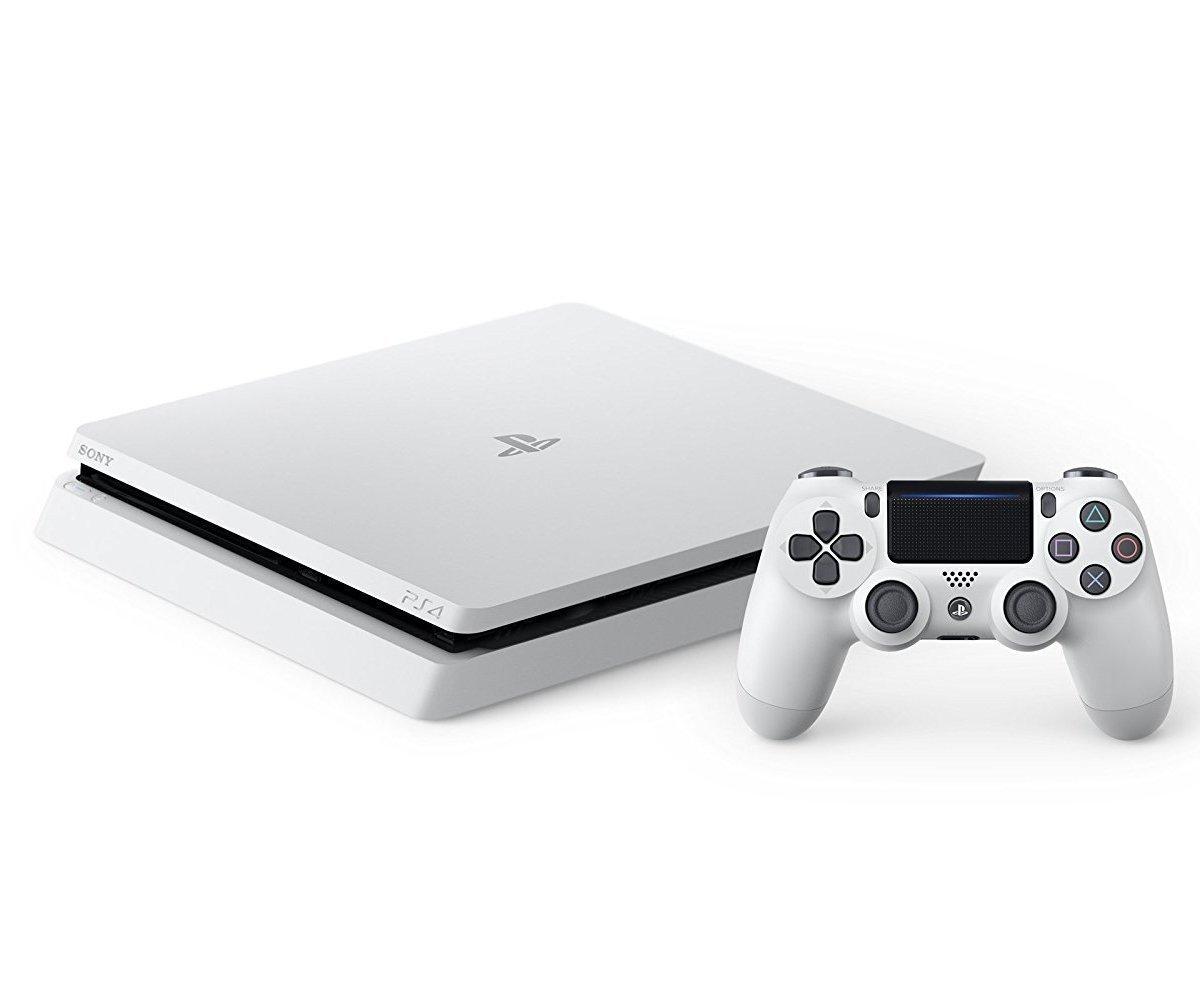 【送料無料】【中古】PS4 PlayStation 4 グレイシャー・ホワイト 500GB (CUH-2000AB02) (箱説付き)