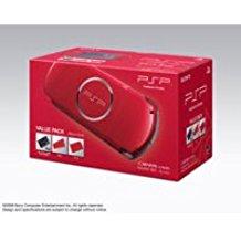 【送料無料】【中古】PSP「プレイステーション・ポータブル」 バリュー・パック ラディアント・レッド (PSPJ-30010)