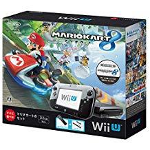【欠品あり】【送料無料】【中古】Wii U マリオカート8 セット クロ 本体