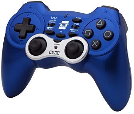 【送料無料】【中古】PS3 プレイステーション 3 ワイヤレスホリパッド3ターボ ブルー コントローラー(箱説付き)