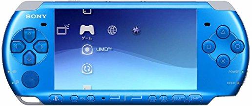【送料無料】【中古】PSP「プレイステーション・ポータブル」 バリュー・パック バイブラント・ブルー (PSPJ-30002) PSP3000(箱説付き)