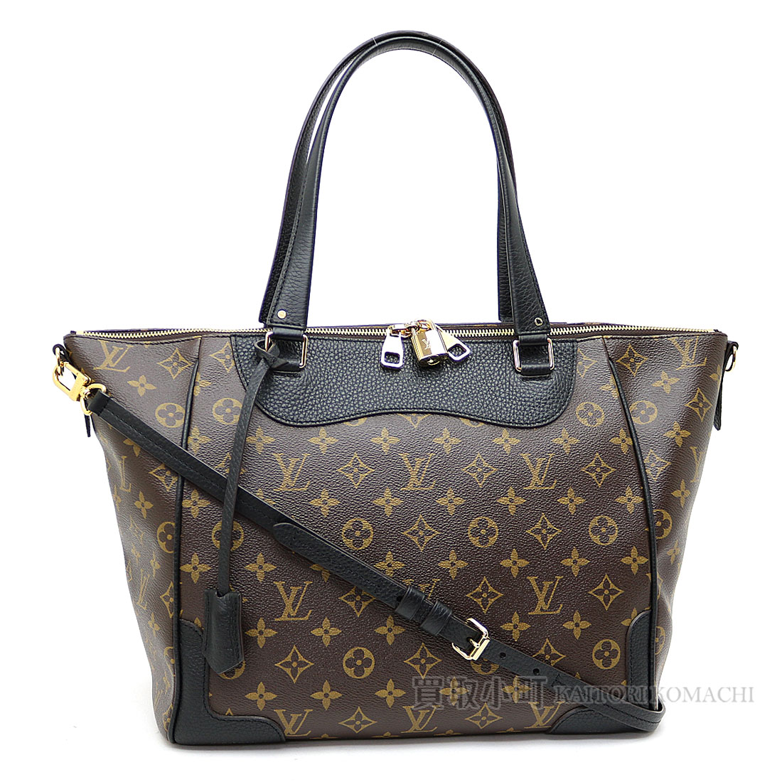 931822bc39f KAITORIKOMACHI: Louis Vuitton M51192 エストレーラモノグラムキュイールノワール 2WAY shoulder bag  handbag city tote bag black LV ESTRELA MONOGRAM NOIR ...