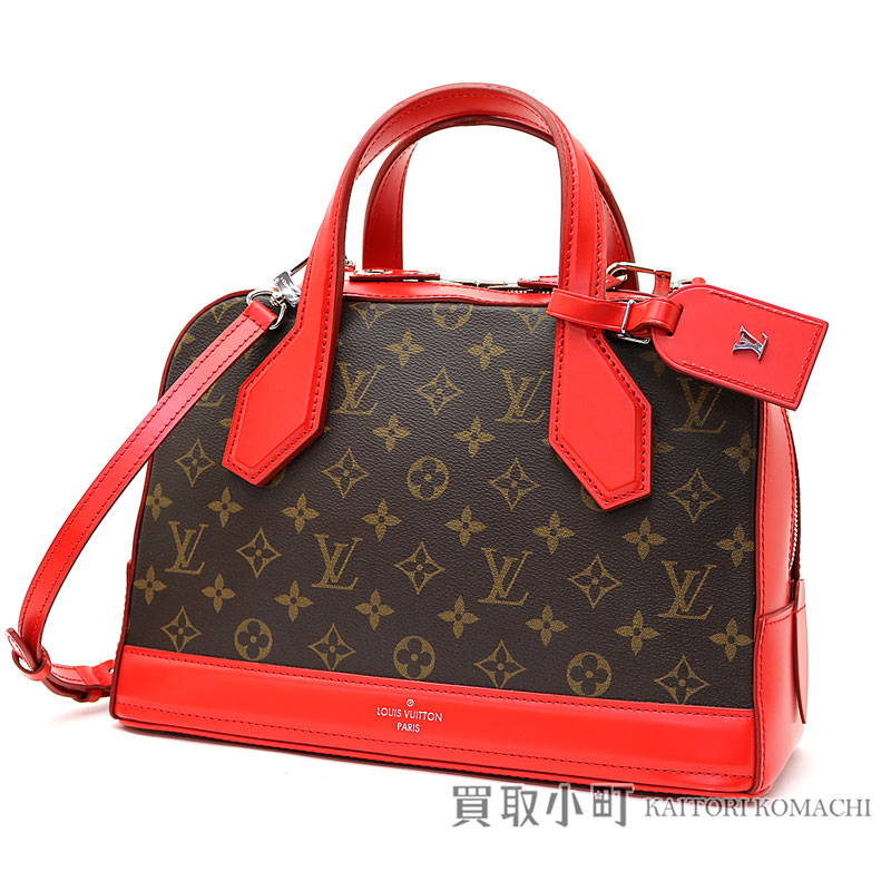 b705711c28 Louis Vuitton M40274 gong PM monogram body Rico 2WAY shoulder bag handbag  red leather LV DORA PM MONOGRAM RED COWHIDE