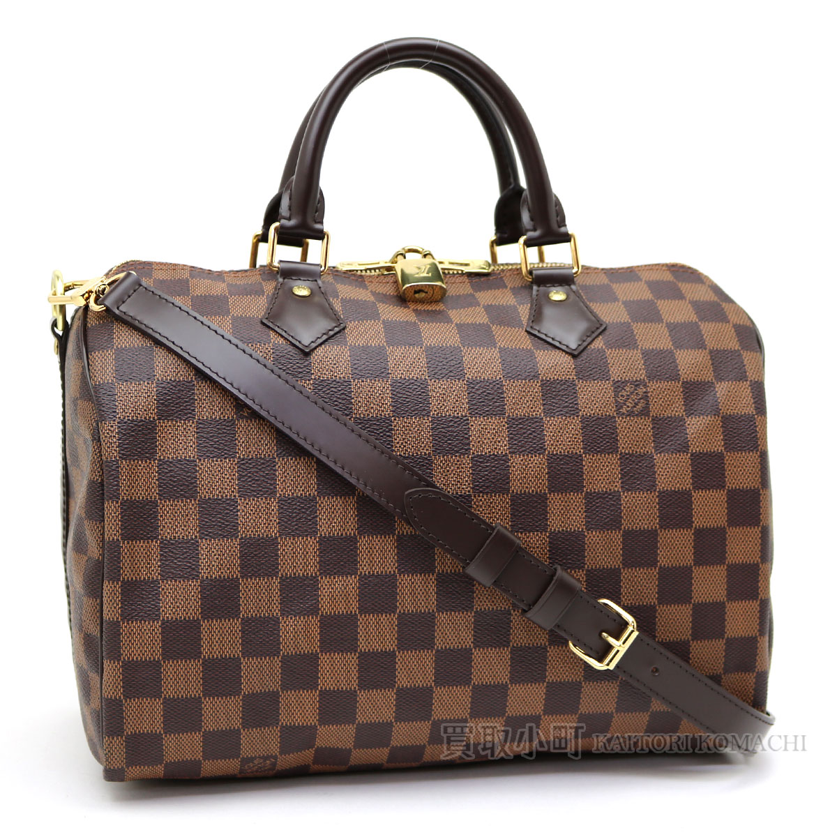 Speedy 30 LV SPEEDY BANDOULIERE 30 DAMIER with Louis Vuitton N41367 speedy  band re-yell 30 ダミエアイコンボストンバッグ 2WAY shoulder bag handbag strap d21582c53474