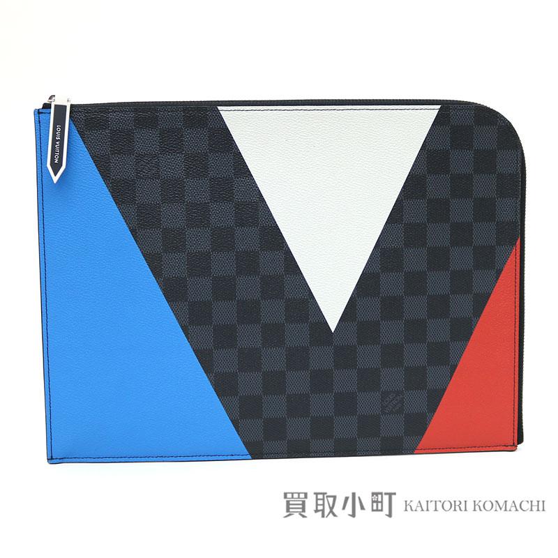 ba3fd8dcdb1f Louis Vuitton N41594 America s Cup-limited pochette Joule GM ダミエコバルト V  motif clutch bag document case second bag business case men LV POCHETTE  JOUR ...