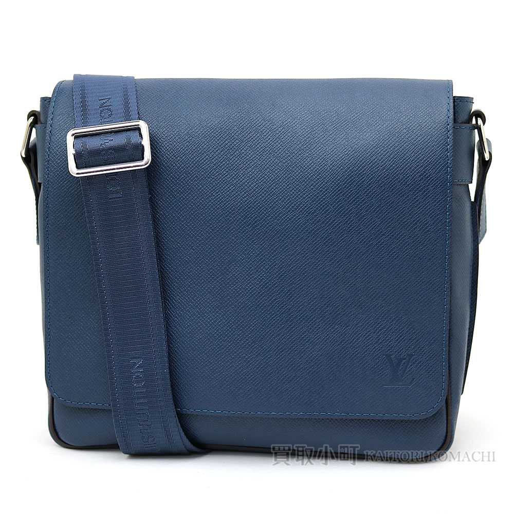 1a332f97e54c Take a Louis Vuitton M32824 romance PM taiga Ose Ann men messenger bag  shoulder bag slant  blue leather LV Roman PM Taiga