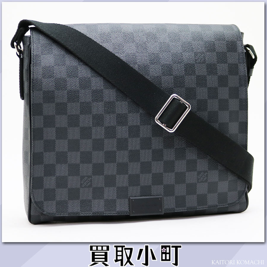 路易威登N41272 disutorikuto MM damie·gurafittomessenjabaggushorudabaggumenzubaggu LV DISTRICT MM DAMIER GRAPHITE MESSENGER BAG