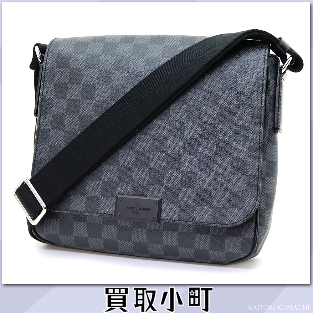 路易威登N41260 disutorikuto PM damie·gurafittomessenjabaggushorudabaggumenzubaggu LV District PM Damier Graphite Messenger bag
