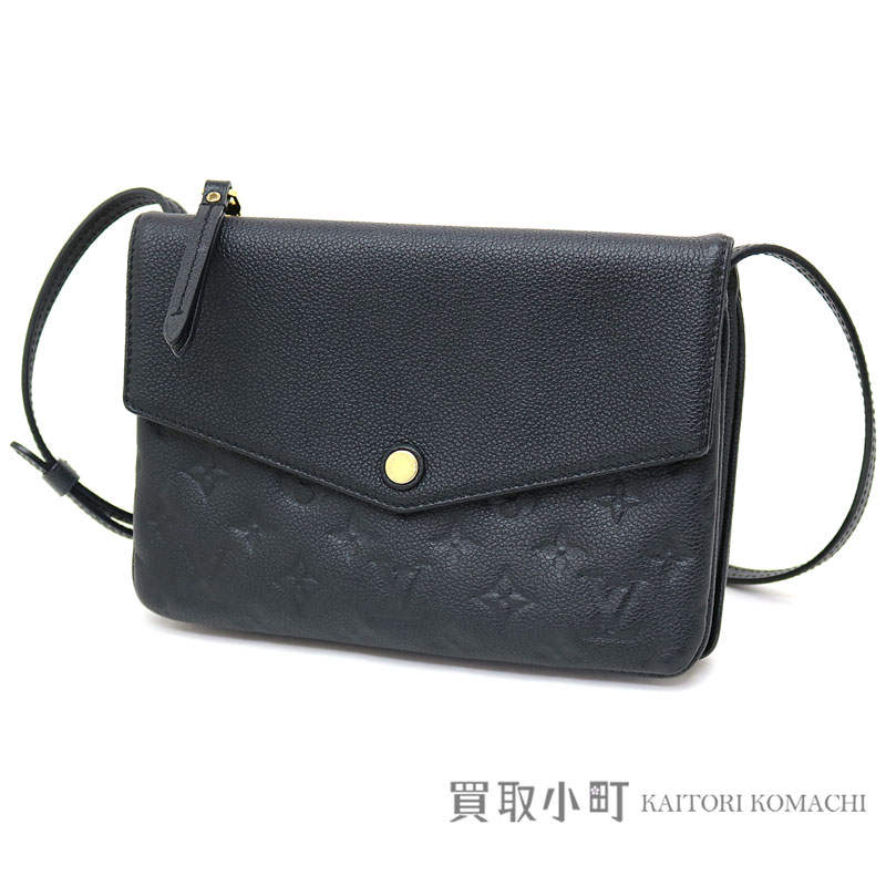 Take Louis Vuitton M50258 トワイスモノグラムアンプラントノワールカーフレザーショルダーバッグ slant; pochette clutch twin set black LV TWICE MONOGRAM EMPREINTE NOIR POCHETTE