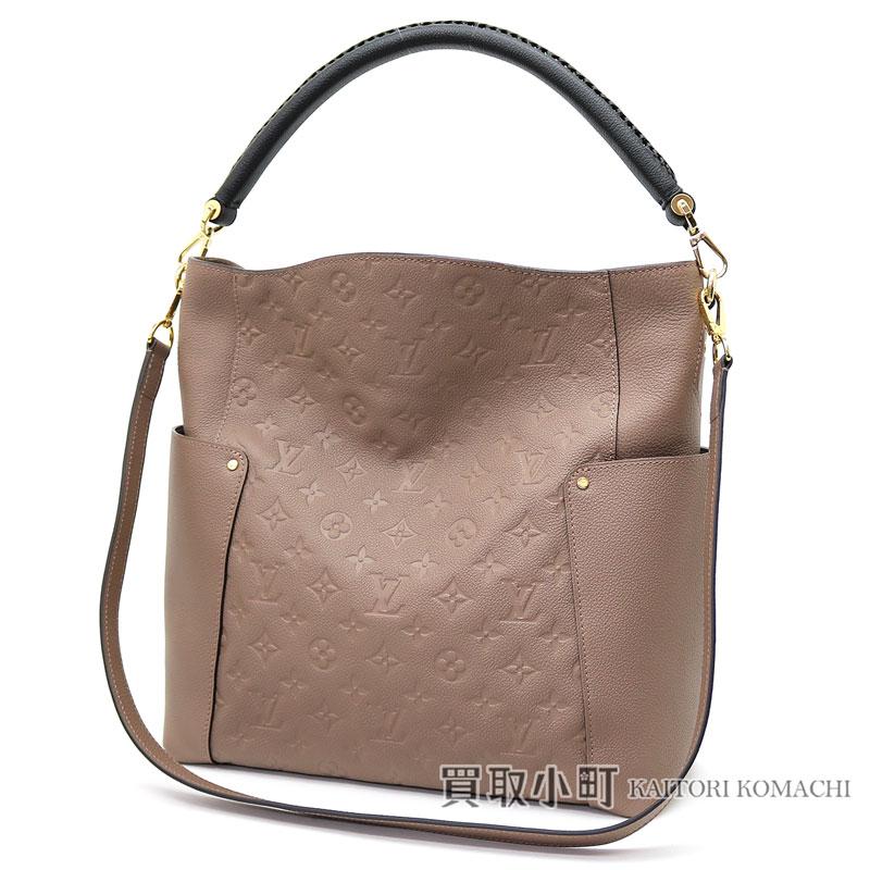 6effdd88f85d Louis Vuitton M50696 バガテルモノグラムアンプラントトープ X black calf-leather shoulder bag  Ho baud bag 2WAY bag monogram emboss LV BAGATELLE MONOGRAM ...