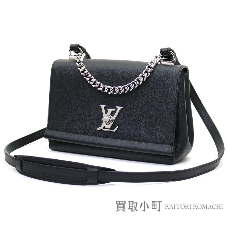 4b2253d51a3 KAITORIKOMACHI: Take Louis Vuitton M51200 lock me II BB ノワールソフトカーフパルナセア LV  logo twist lock 2WAY shoulder bag slant; leather collection lock ...