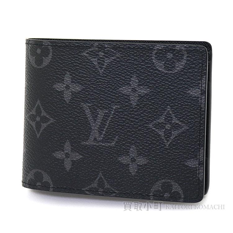 f8f520e5e7a3 Louis Vuitton M61695 ポルトフォイユミュルティプルモノグラムエクリプス folio wallet billfold men  wallet card case black LV MULTIPLE WALLET MONOGRAM ECLIPSE