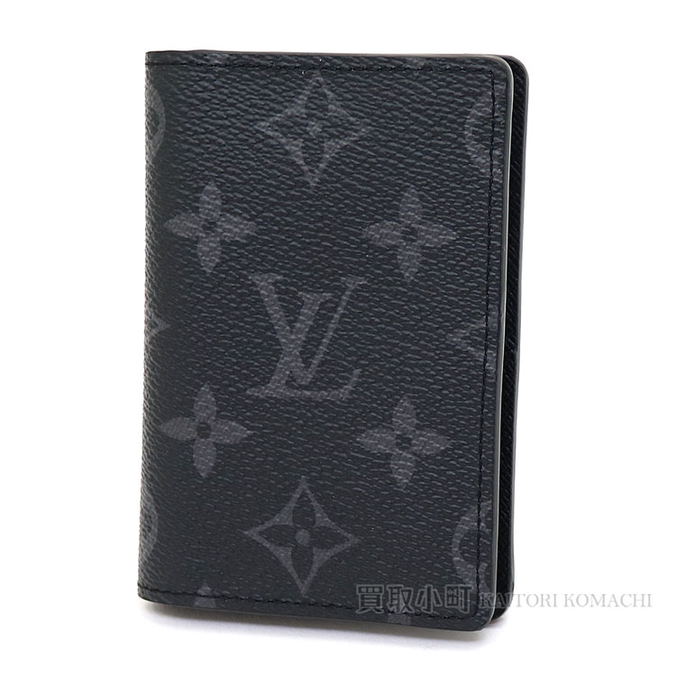 路易威登M61696 oganaizaduposshumonoguramuekuripusukadokesupasukesu名片夹口袋组织者黑色LV POCKET ORGANISER MONOGRAM ECLIPSE