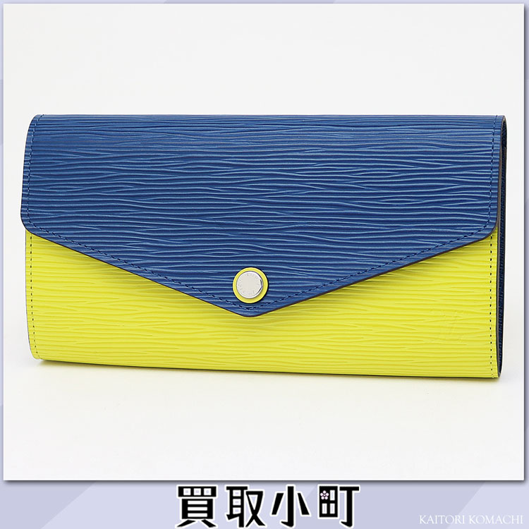 Head wallet エンヴェロップ type flap wallet wallet 2 tone LV SARAH WALLET EPI TWO TONE belonging to Louis Vuitton M60528 ポルトフォイユ サラエピピスタッシュ X サフィールバイカラーファスナー