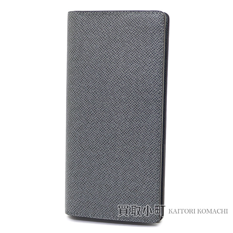 a0c0294c059 Louis Vuitton M32653 ポルトフォイユブラザタイガグラシエ folio long wallet men wallet light  gray new model 16 card LV Brazza Wallet Taiga Leather Glacier