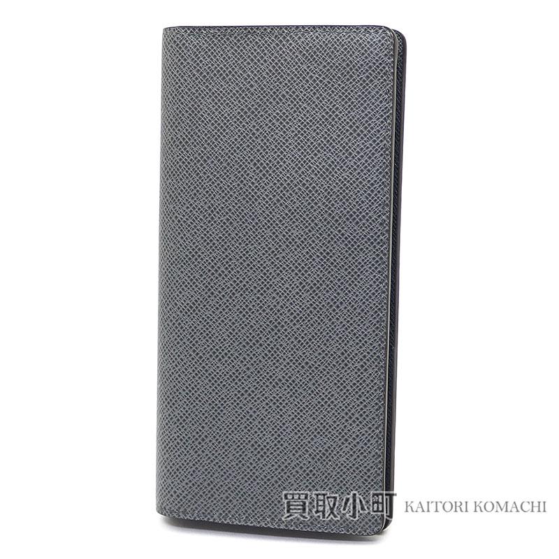 a0c0294c059 Louis Vuitton M32653 ポルトフォイユブラザタイガグラシエ folio long wallet men wallet light  gray new model 16 card LV Brazza Wallet Taiga Leather Glacier