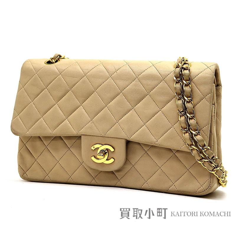 df54ceb0738b KAITORIKOMACHI: Chanel matelasse 25 classic flap bag beige lambskin gold  metal fittings medium W chain shoulder bag constant seller chain bag  matelasse line ...