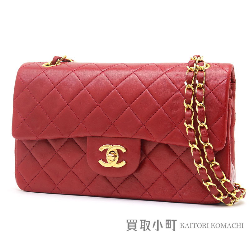 Chanel Matelasse 23 Classic Flap Bag Red Lambskin Gold Metal Ings Small W Chain Shoulder Constant Er Line