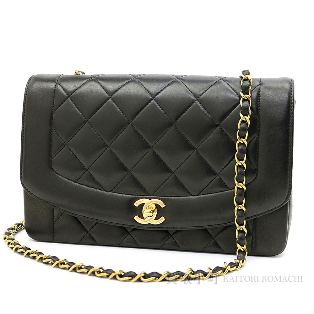 d3be8a389ad4 Take Chanel matelasse classical music flap bag black lambskin CC mark twist  lock matelasse line chain shoulder bag chain bag slant  black vintage  A01165  02 ...