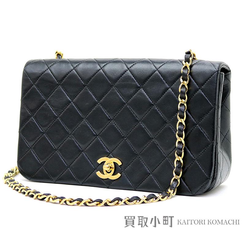 Take Chanel matelasse chain shoulder bag black lambskin classical music oar  flap slant  CC mark twist lock flap bag chain bag quilting vintage  01  CLASSIC ... e95513e585b50