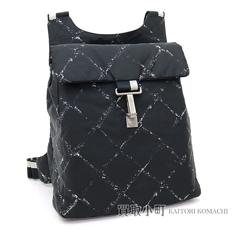a4a0161107f3 Style of Chanel travel line rucksack black nylon backpack day pack quilting  TRAVEL LINE BACKPACK