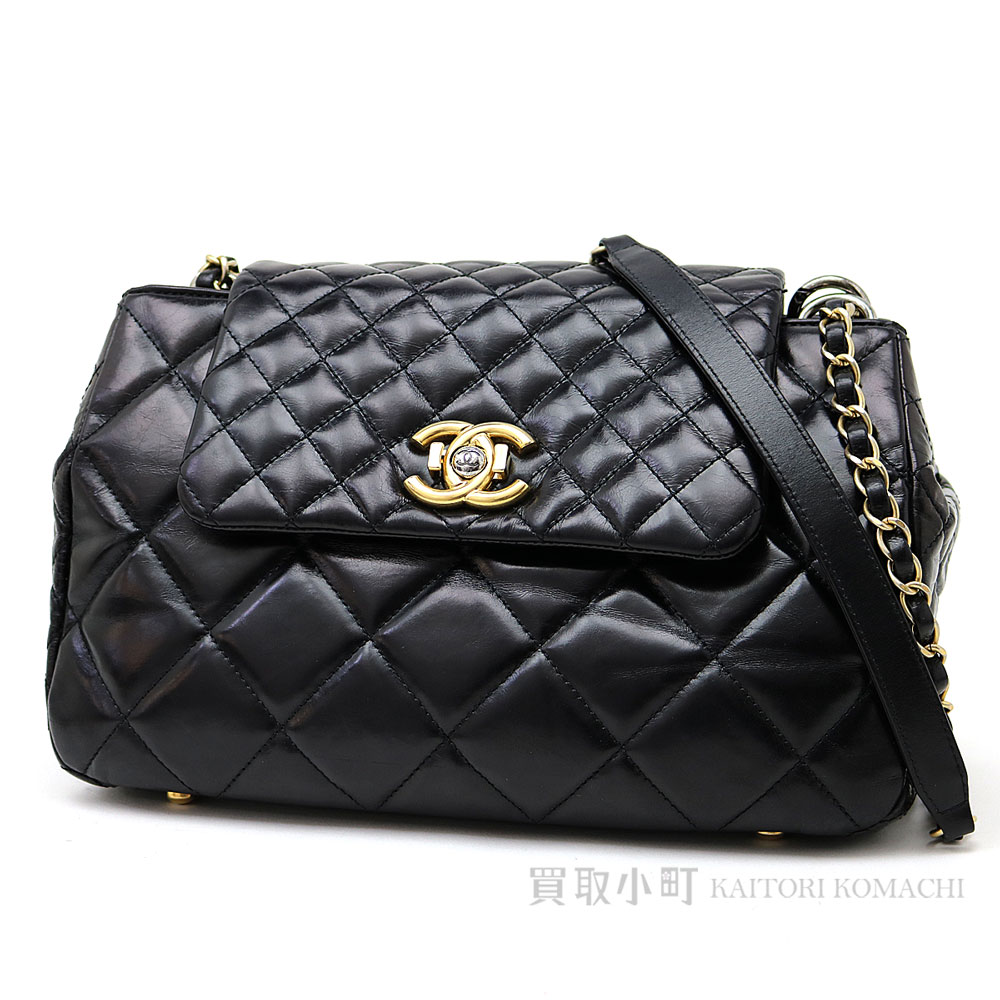 6afbe4de38de Take a Chanel chain shoulder bag black calfskin quilting vintage-like accordion  bag chain bag ...