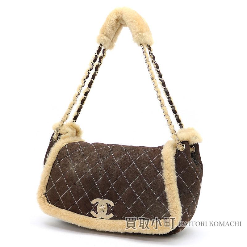 cdc858d70317 Chanel mouton accordion bag bronze CC mark twist lock chain shoulder bag Ho  baud bag fur A25783  09 Mouton Chain Hobo bag