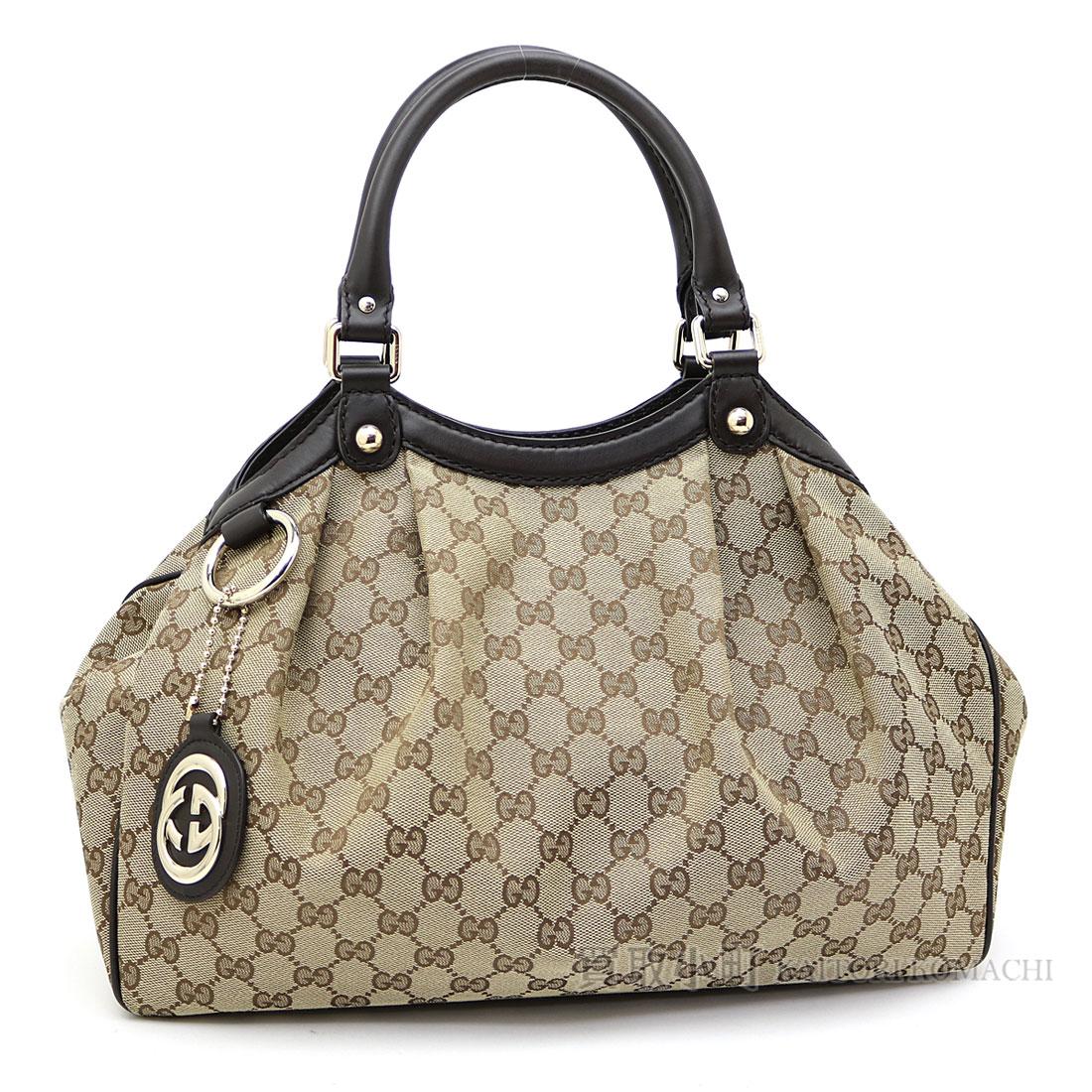 541f2e06d4f Gucci Sioux key original GG canvas tote bag medium size beige X dark brown  interlocking grip G charm shoulder bag handbag 211944 FAFXG 9643 Sukey  Medium ...