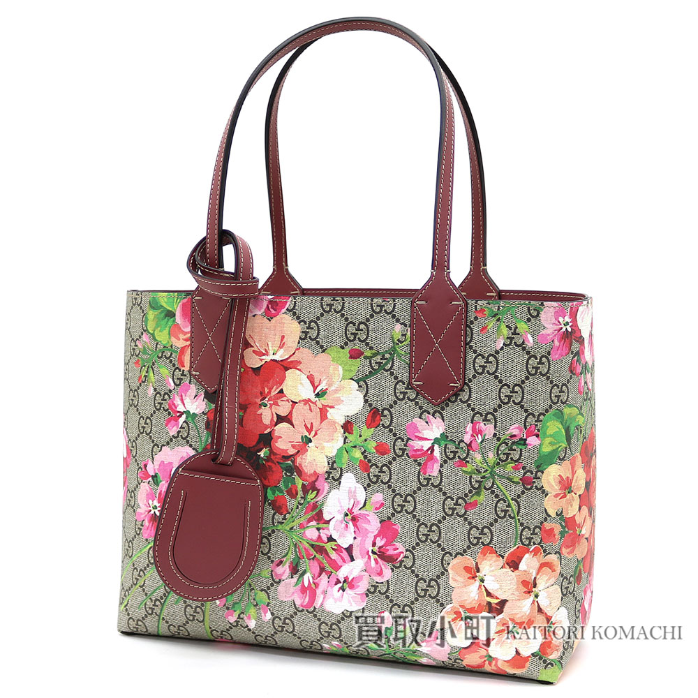 6a90c7870 KAITORIKOMACHI: Gucci GG bloom reversible leather tote bag antique Rose GG  leather Small tote bag shoulder bag flower print floral design 372613 CU710  8693 ...