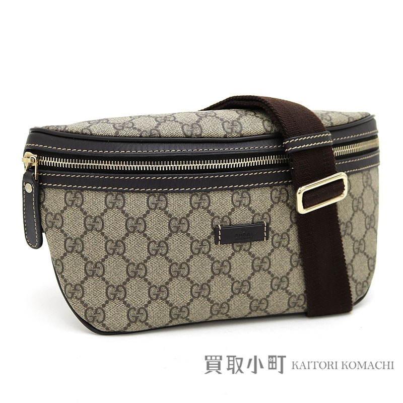 Take Gucci GG スプリームキャンバスベルトバッグベージュ X dark brown hips bag slant  bum-bag  crossbody bag shoulder bag GG +233 9a1378e8f1533