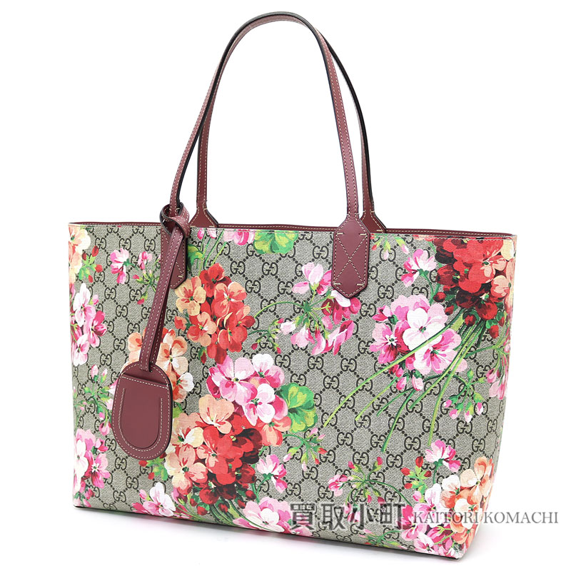20ccf4266 KAITORIKOMACHI: Gucci GG bloom medium reversible leather tote bag antique  Rose GG leather shoulder bag flower print floral design 368568 CU710 8693 GG  ...