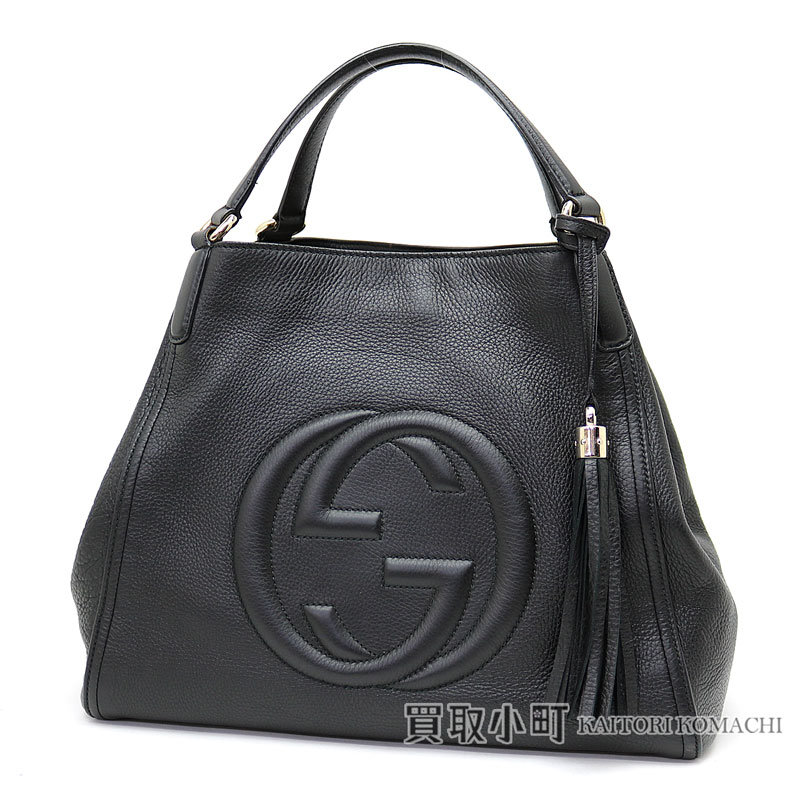 66bb7388b19 Gucci Soho leather shoulder bag medium tassel charm interlocking grip G  stitch tote bag fringe 282309 A7M0G 1000 SOHO LEATHER BAG