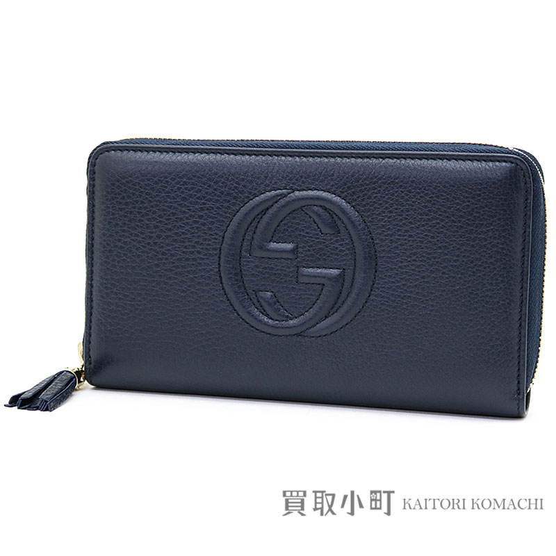 375387e3875 Gucci Soho leather zip around wallet dark blue interlocking grip G stitch  tassel charm round fastener long wallet wallet 308280 A7M0G 4009 Soho Zip  around ...