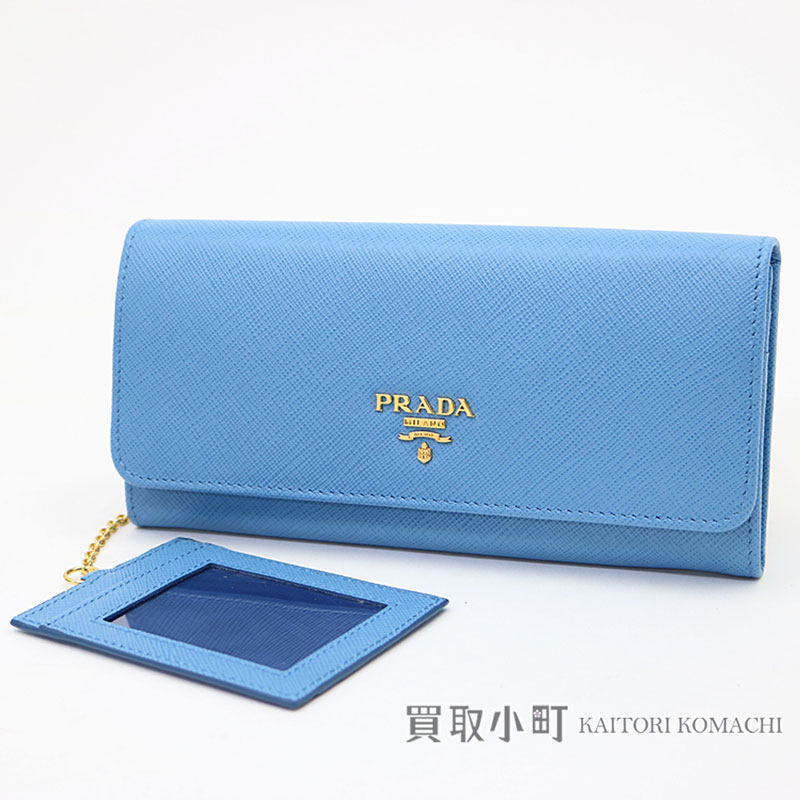 c431af44efc6 KAITORIKOMACHI: Card case wallet 1MH132 QWA F0P9S SAFFIANO METAL MARE ZIP  FLAP WALLET with head wallet pass case with プラダサフィアーノメタルロゴウォレット ...
