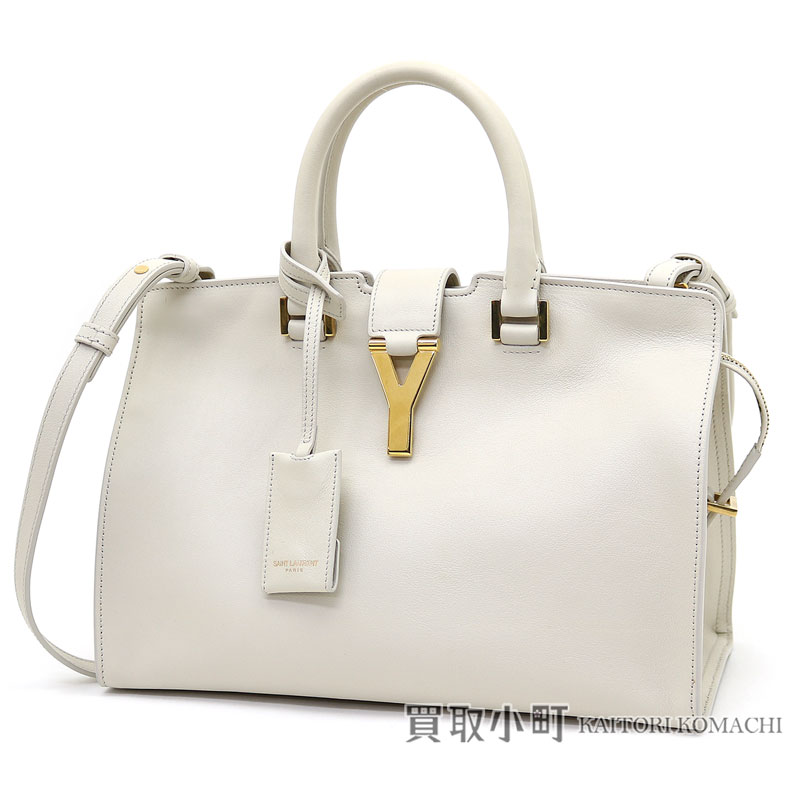 4a94f75fc2ce Yves Saint-Laurent classical music petit hippopotamuses off-white leather Y  line tote bag 2WAY shoulder bag Saint-Laurent Paris 311210 BJ50J 9007  CLASSIC ...