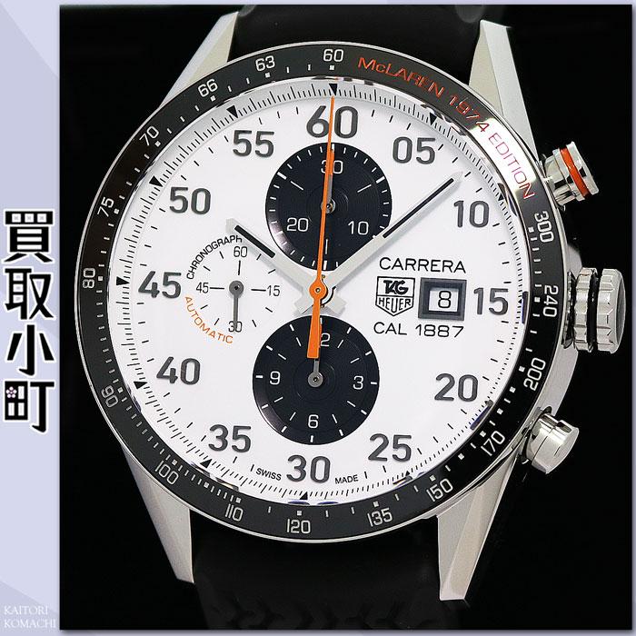 供taguhoiyakarera 1887麦克拉伦40周年纪念型号限定品计时仪43MM自动橡胶人表自动卷男性使用的手表CAR2A12.FT6033 CARRERA McLAREN LIMITED EDITION WATCH