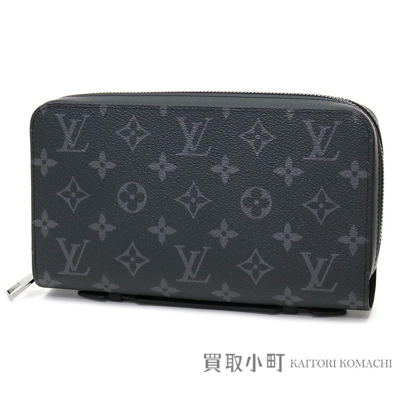 3895d2a5c97 Louis Vuitton M61698 ジッピー XL monogram eclipse round fastener long wallet  サイフメンズトラベルケースクラッチバッグジッピ...