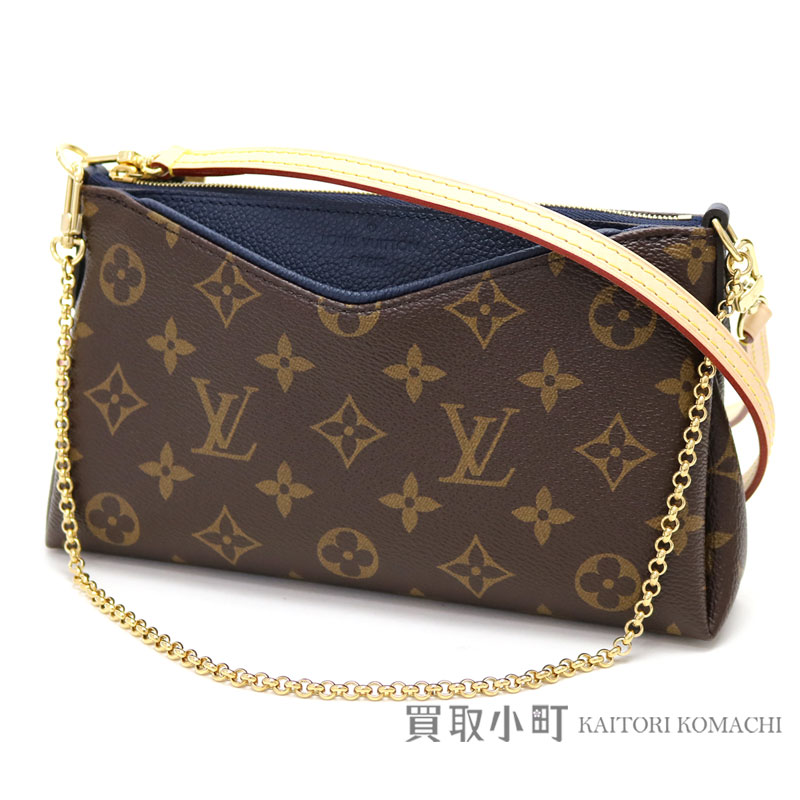 895d79905188 Take Louis Vuitton M44058 Pallas clutch blue malines grain calf 2WAY shoulder  bag clutch bag pochette slant  black LV PALLAS CLUTCH MONOGRAM BLEU MARINE