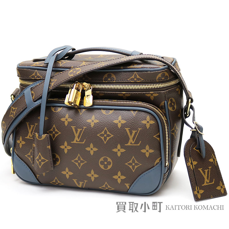 6a6e2c7946b Take a Louis Vuitton M41510 camera bag monogram blue on blurring leather  messenger bag men shoulder bag slant  Chris Tofane female LV CAMERA BAG  MONOGRAM