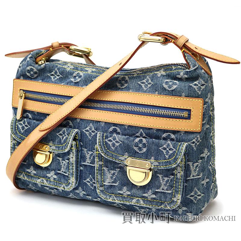 Take Louis Vuitton M95049 + J54316 buggy PM monogram denim blue shoulder bag  slant  LV Baggy PM Monogram Denim Shoulder Bag 25e9ed70b6c0d