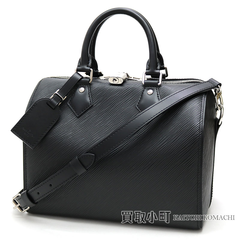 Speedy 25 black leather LV SPEEDY BANDOULIERE 25 EPI NOIR with Louis Vuitton  M51278 speedy band re-yell 25 エピノワールアイコンボストンバッグ 2WAY shoulder ...