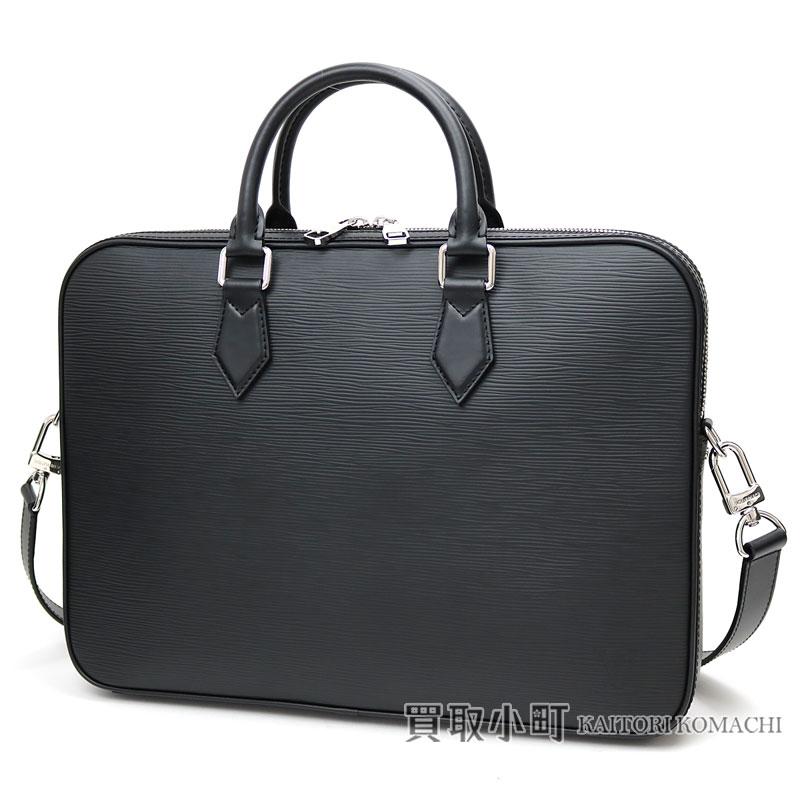 Louis Vuitton M51377 Dandy Briefs Kay Sue Pineau Waal Briefcase 2way Shoulder Bag Business Doents Dispatch Case Men Black Leather Lv