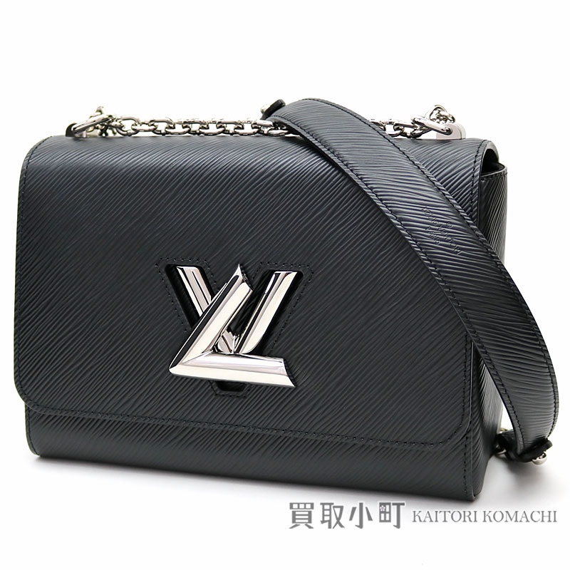 Louis Vuitton M50282 Twist Mm エピノワール Lv Lock Chain Shoulder Bag 2way Handbag Black Leather Epi Noir