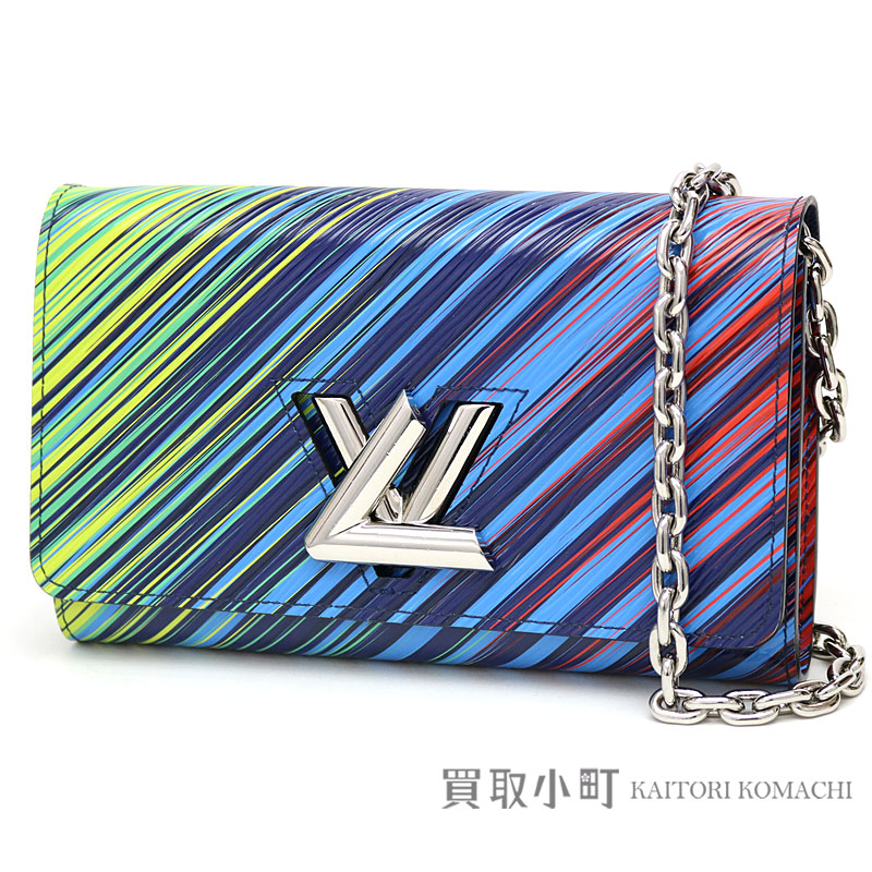 5e4699fcd26 KAITORIKOMACHI: Louis Vuitton M62265 ポルトフォイユツイストチェーンエピヴェールマルチカラー LV twist  lock chain wallet shoulder bag pochette LV TWIST CHAIN ...