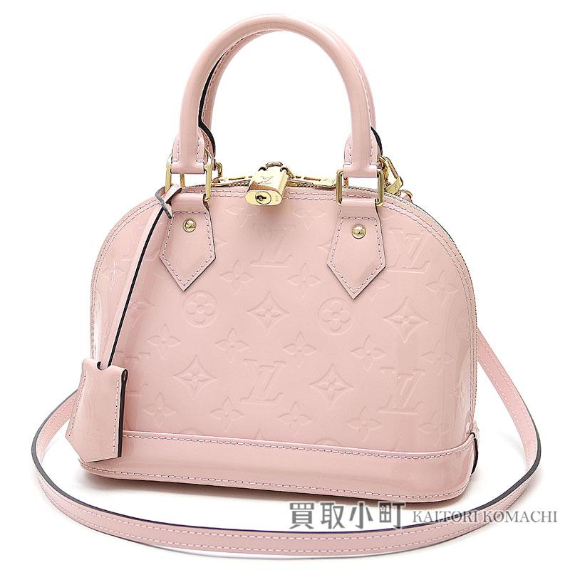 c3b4fd165163 Take Louis Vuitton M50415 Al Mar BB モノグラムヴェルニローズバレリーヌアイコンバッグ 2WAY bag  shoulder bag handbag crossbody slant  pink leather LV ALMA BB ...