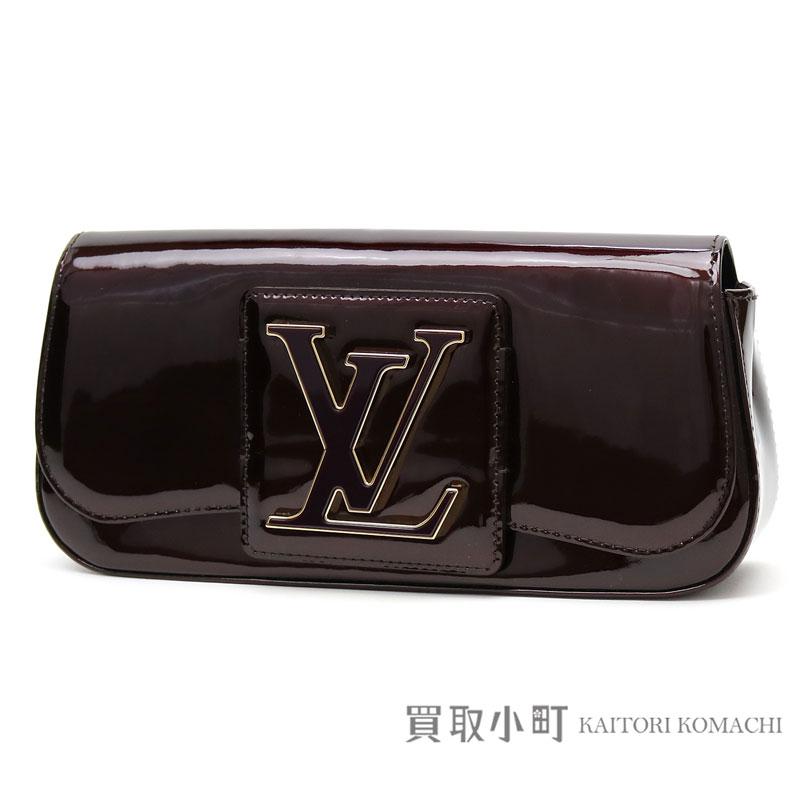 8af800907c55 Louis Vuitton M93490 ポシェットソービーヴェルニアマラント LV logo buckle clutch bag evening  bag patent leather LV Pochette Sobe Vernis Clutch