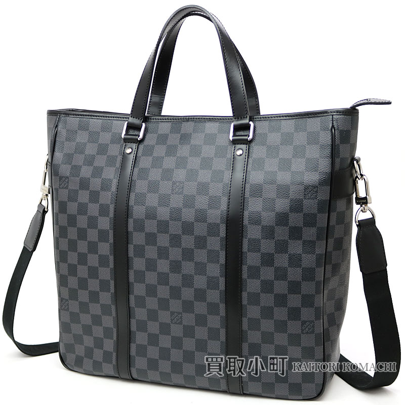 Louis Vuitton N51192 タダオダミエグラフィット 2WAY tote bag briefcase briefcase  business bag men bag black leather black LV Tadao Damier Graphite 871d39f4a504c