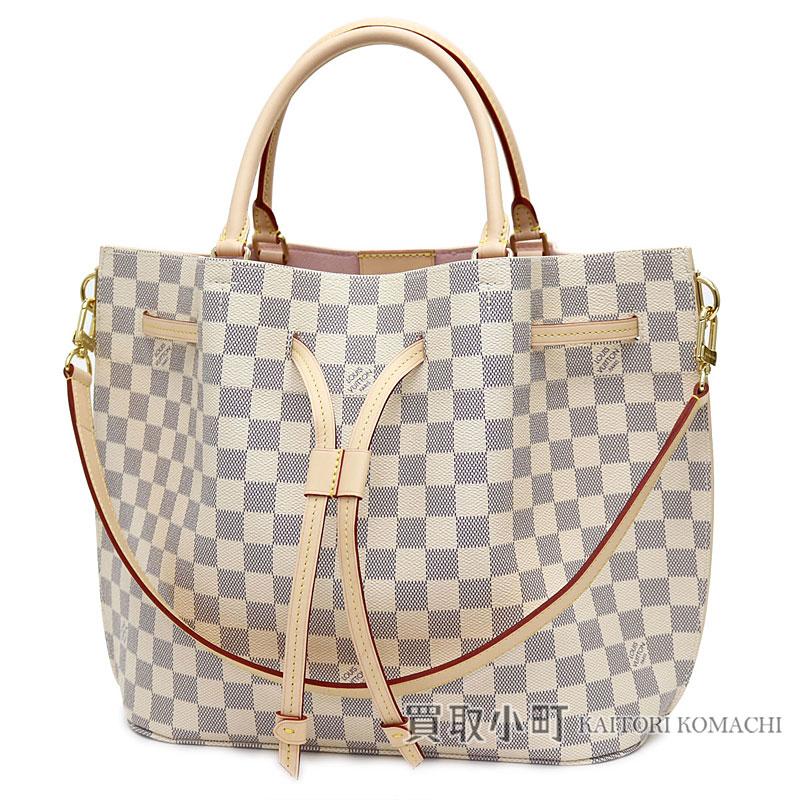 7a41b543b4f4 Louis Vuitton N41579 ジロラッタダミエアズールドローストリングバケットバッグトートバッグ 2WAY shoulder bag LV  GIROLATA DAMIER AZUR TOTE