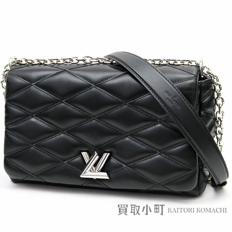 00b7c44ec5a KAITORIKOMACHI: Take Louis Vuitton M50298 GO-14MM マルタージュノワールラムスキンアイコン LV  twist lock chain shoulder bag 2WAY bag slant; black leather ...